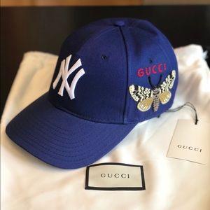 f046a9da Gucci New York Yankee Baseball Cap NWT